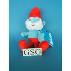 Stoffen marionette grote smurf nr. 50199-01 (22 cm)