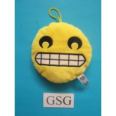 Emoji kussen grijnzend nr. 50707-02 (15 cm)