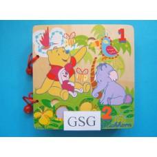 Houten leesboekje Winnie de Pooh nr. 6038-02