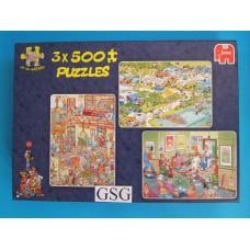 Jan van Haasteren 3x 500 st nr. 81168-02