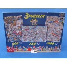Jan van Haasteren 3 puzzels 500 750 1000 st nr. 80110-02