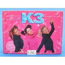 K3 puzzel roze 60 st nr. 18012-02