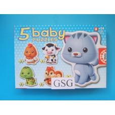 Baby puzzles 3 st + 3 st + 4 st + 4 st + 5 st nr. 13473
