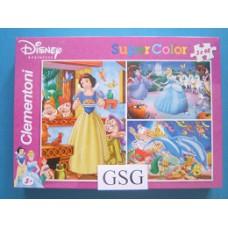 Disney prinsessen 3x 48 st nr. 25156-01