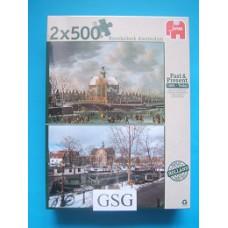 Noorderkerk Amsterdam 2x 500 st nr. 18344-01