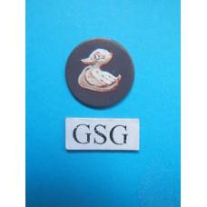 Schat schijfje eend donker grijs nr. 60758-02