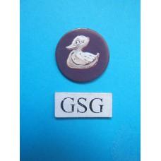 Schat schijfje eend paars nr. 60745-02