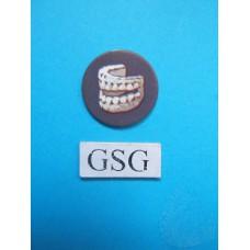 Schat schijfje gebit donker grijs nr. 60761-02