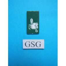 Kaartje kapitein groen nr. 60930-02
