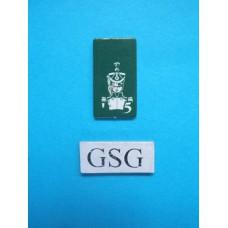 Kaartje luitenant groen nr. 60931-02